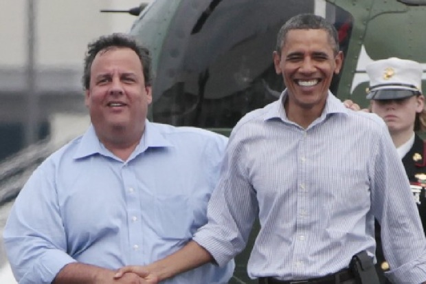 Brokeback Boardwalk – Obama & Christie Reunited