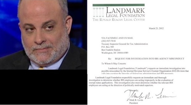 Mark Levin Forces IRS To Apologize To Tea PartyGroups