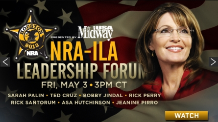 Sarah Palin Speech NRA 2013 – Constitutional Resurgence