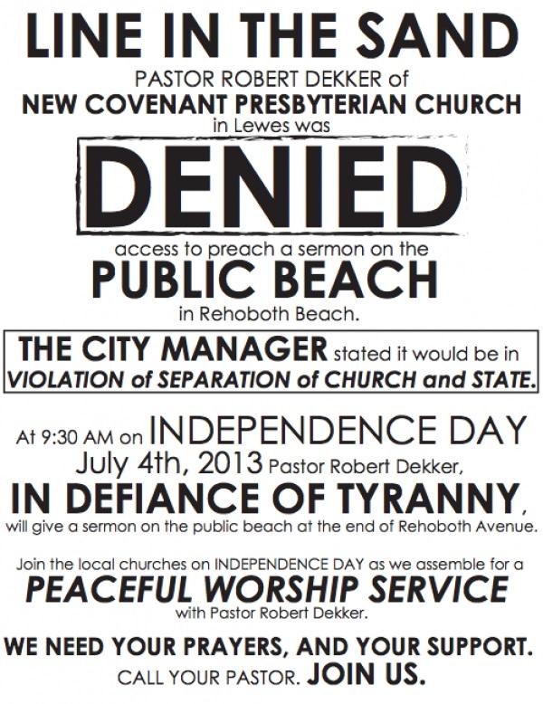 Rehoboth Beach Defiance ofTyranny
