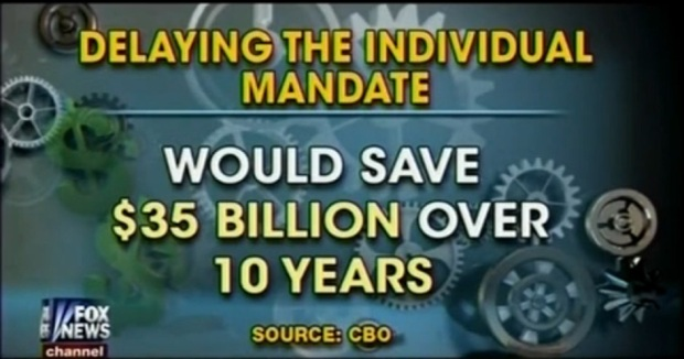 Obamacare – CBO: Individual Mandate Delay Saves $35 Billion