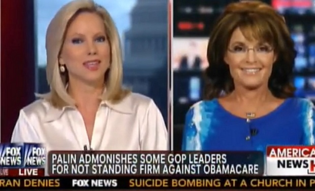 Video: Gov. Palin Defends Sen. Cruz- Defund Obamacare