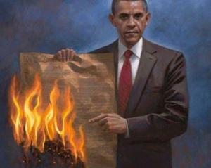 obama burn