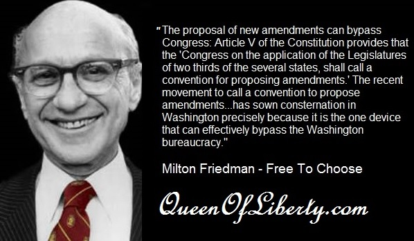 Milton Friedman was in favor of having an Article V convention of states
