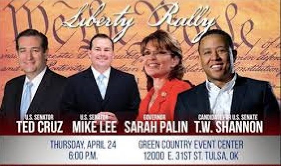 T.W. Shannon Speaks At Liberty Rally With Palin, Cruz andLee