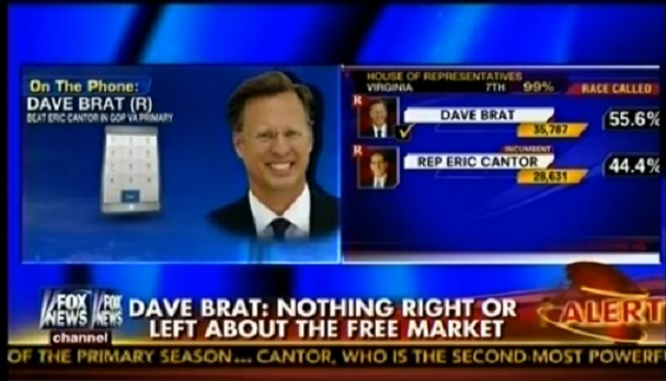 Dave Brat Interviewed By Sean Hannity After Crushing Eric Cantor