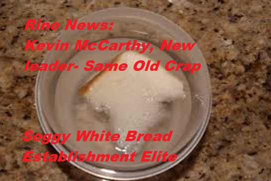 Rino News-> Kevin McCarthy Has Some Soggy White Bread forYou