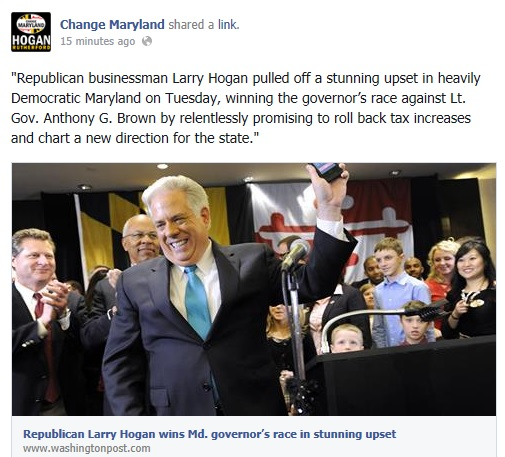 Republican Businessman Larry Hogan Wins In Dark BlueMaryland