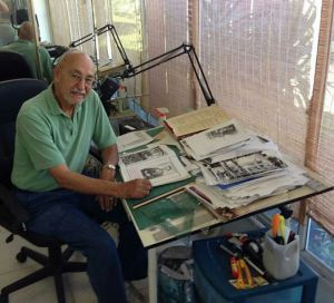 Jack Levin working on his new book 10616264_10152665169683832_4473645486446333156_n