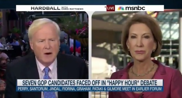 Carly Fiorina is a tough cookie who effectively took down Donald Trump, Hillary Clinton And Chris Matthews All in One Night