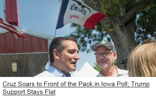 Cruz 31 Trending All Over Social Media – YES! IOWA BABY!