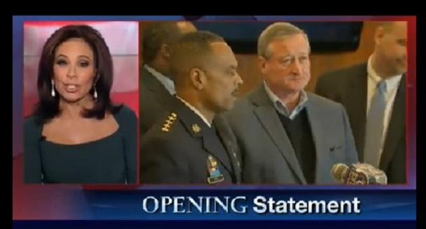Judge Jeanine Pirro slammed the mayor of Philadelphia for beingPC