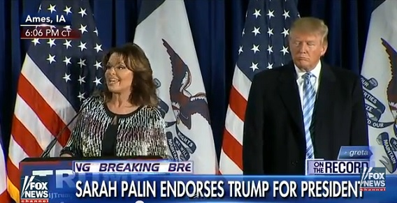 Sarah Palin Endorses Donald Trump For President