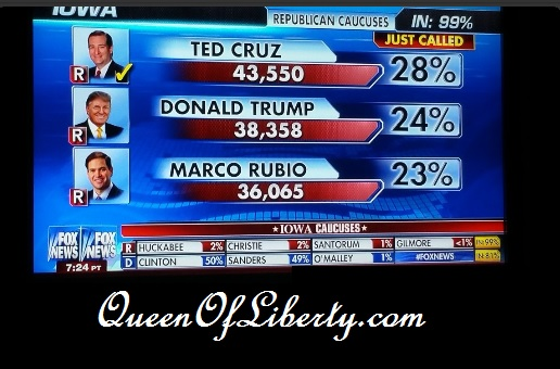 Cruz wins Iowa Caucus! The Constitutional Awakening Begins