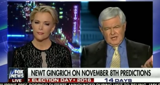 Drag Down Fight between Newt Gingrich and Megyn Kelly on Fox News