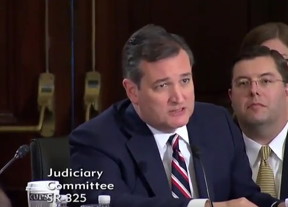 Ted Cruz Blasts Obama at Sen Sessions Hearing